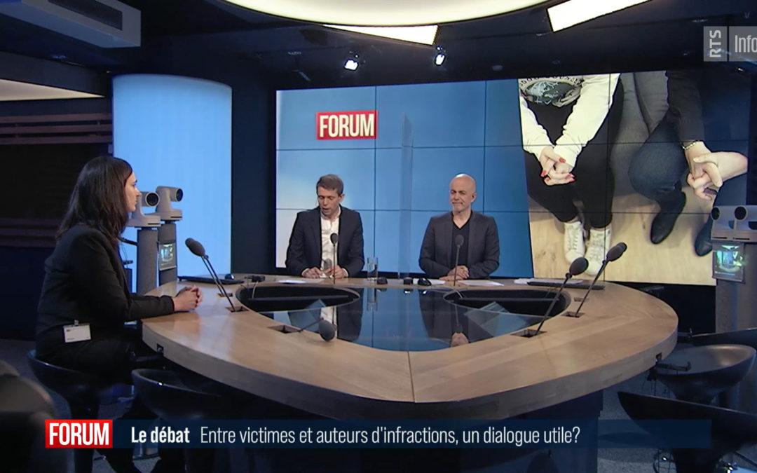 Le grand débat – Entre victimes et auteurs d'infraction, un dialogue toujours utile? (RTS, Forum, mars 2021)